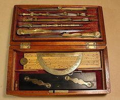 English Brass Drawing Instrument Set (c1850)