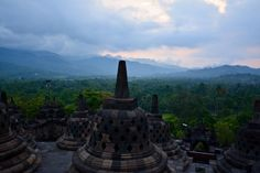 One of the most beautiful temples in Southeast Asia: Borobudur temple Java [OC] #travel #photography #nature #photo #vacation #photooftheday #adventure #landscape