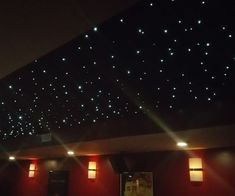 Fiber Optic Panel Star Ceiling For my wife & I, a dream of ours has always been to have a home theater to watch movies with our family. At Home Movie Theater, Home Theater Rooms, Home Theater Design, Home Theater Seating, Basement House, Basement Walls, Basement Ideas, Basement Bathroom, Basement Makeover