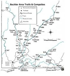 Topo Map of the Boundary Creek and Bechler River Trails
