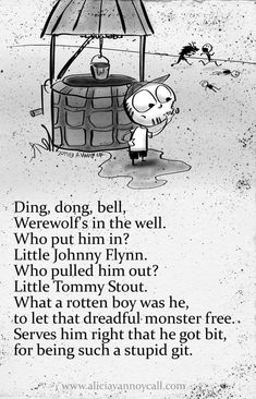 Writer/illustrator Alicia VanNoy Call is creating a series of Apocalyptic Nursery Rhymes that are equal parts cute and disturbing. Creepy Nursery Rhymes, Best Nursery Rhymes, Nursery Songs, Creepy Stories, Horror Stories, Creepy Poems, Creepy Quotes, Dark Nursery, Dark Poetry