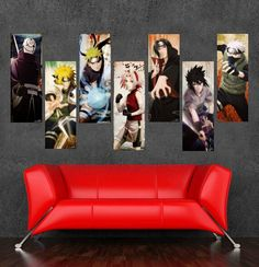 2016 New High Quality Large Size Japanese Anime Canvas Painting On Canvas Carton Naruto Wallpaper Cuadros Decoracion Unframed ** To view further for this article, visit the image link. #HomeDecor