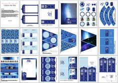 Dr Who Party DIY Printable Kit INSTANT by CreativeLittleStars