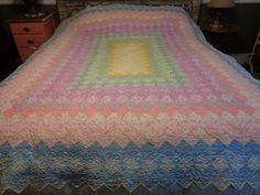 Vintage Quilt Pieced Boston Commons Quilt Antique by FairchildsInc