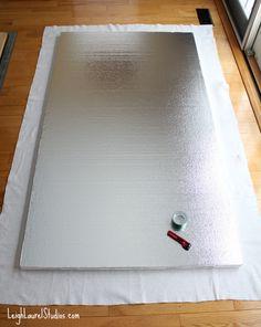 Tutorial: How to Make a Semi-portable Design Wall - Leigh Laurel Studios