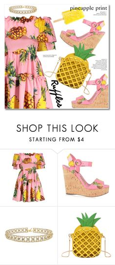 """Add Some Flair: Ruffled Dress"" by svijetlana ❤ liked on Polyvore featuring Dolce&Gabbana, ruffleddress and rosegal"