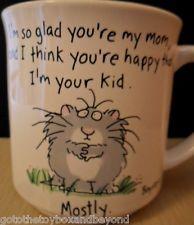 Sandra Boynton Mom Coffee Cup Mug Cat Kitty Kid 12 Oz White