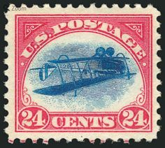 Position 48 Inverted Jenny to auction for $450,000 in NY #stamps #philately