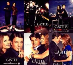 Season covers 1-6... I love how the covers show a progression in the relationship.  so clever and cute!