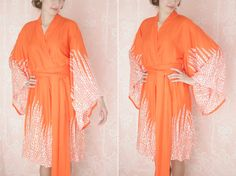 """Dream Catcher. One custom """"Noguchi"""" kimono robe in an exquisitely soft rayon fabric. Super soft rayon robe with pockets."""