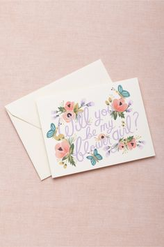 Blooming Flower Girl Card from BHLDN