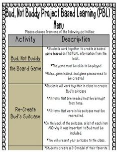 Printables Bud Not Buddy Worksheets free printables the ojays and novels on pinterest