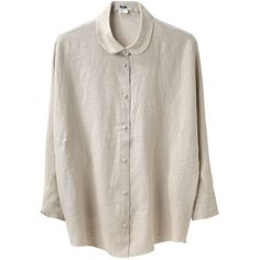 Acne Joy Linen Shirt ($196) ❤ liked on Polyvore featuring tops, blouses, shirts, camisas, loose shirt, button up shirts, button down shirt, linen blouse and button down blouse