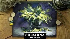 How to draw a mimosa with soft pastels  Sheshina Ekaterina