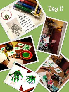 blogdeedah Advent project day 6 #advent #christmas #preschool #handprint trees