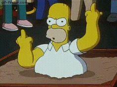 Homer Simpson Middle finger