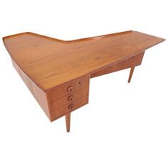 Vintage Mid Century Modern Arne Vodder Teak Desk by GrabASeat