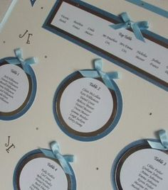 Great seating chart ideas!