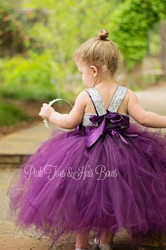 Flower girl dress-birthday dress-plum flower girl by GlitterMeBaby