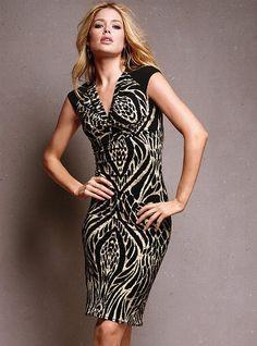 Animal-print Cap-sleeve Dress - Victoria's Secret