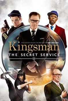 Kingsman: The Secret Service Movie Poster - Colin Firth, Samuel L. Jackson, Mark Strong  #Kingsman, #TheSecretService, #MoviePoster, #ActionAdventure, #MatthewVaughn, #ColinFirth, #MarkStrong, #SamuelL, #Jackson