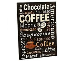 Placa decorativa coffee