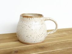Stoneware Coffee Cup Ceramic Pottery Mug in by dorothydomingo