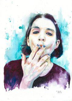 Brian Molko by Cora Tiana #placebo