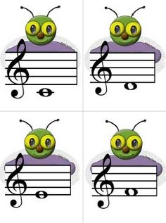Larger Fly Flash Cards to use with fly swatting games. These are much easier for young children to read. They can also be used as flash cards for learning notes. Music Education Games, Music Activities, Music Games, Music Lesson Plans, Music Lessons, Reading Music, Reading Games, Music Worksheets, Piano Teaching