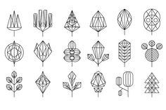 Graphical leaf of the tree set by TopVectors on @creativemarket