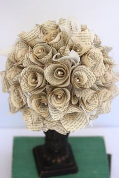 VINTAGE BOOK ROSE Centerpiece /// Pride and Prejudice /// Ready to ship - combine with some brooches? I think yes