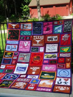 I want to do these for my daughters! I have spent years keeping pieces of clothing from ever part of their lives so that I can one day do a quilt for each part of their lives! How cool is that?