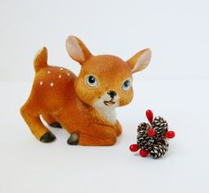 Spotted Deer Fawn Vintage Figurine Home Decor by QuirkyQuriosities, $6.00
