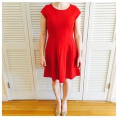 Michael Kors Red Dress  Brand new and never worn! Pleated skirt. Made of 72% protester, 23% viscose, and 5% elastane. Fabric is thick so this dress is good for fall/winter as well as summer/spring! Michael Kors Dresses Mini