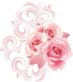 "Photo from album ""Валентинки в png"" on Yandex. Flower Frame, Flower Art, Pink Roses, Pink Flowers, Illustration Blume, Decoupage Paper, Flower Images, Tole Painting, Painting Patterns"