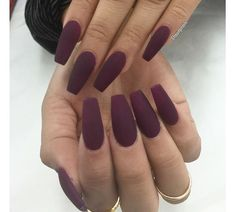 There are three kinds of fake nails which all come from the family of plastics. Acrylic nails are a liquid and powder mix. They are mixed in front of you and then they are brushed onto your nails and shaped. These nails are air dried. Coffin Nails Matte, Best Acrylic Nails, Acrylic Nail Designs, Acrylic Gel, Acrylic Nails Maroon, Fake Nail Designs, Acrylic Colors, Prom Nails, My Nails