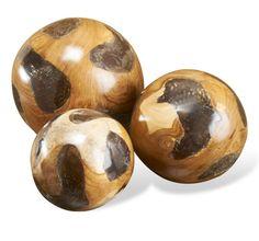 Cairns Teak & Cracked Resin Spheres #975081 by Interlude Home