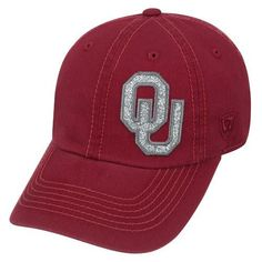 Top of the World Women's University of Oklahoma Entourage Cap (Red Dark, Size One Size) - NCAA Licensed Product, NCAA Women's Caps at Academy Sports
