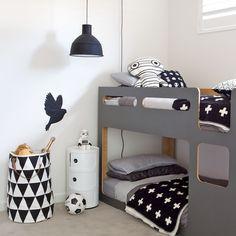 Déco chambre enfant ☆ black white &grey