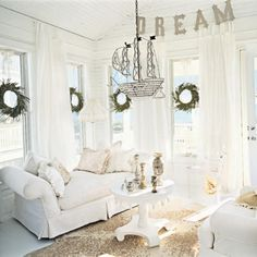 white...so relaxing, perfect for a cottage!