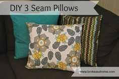 How to cover a pillow in 3 seams!
