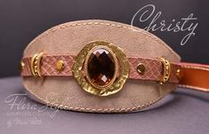 Christy - Exclusive Dog Collar - by Marc Petite Luxury Dog Collars, Designer Dog Collars, Dog Perfume, Perfume Testers, Amber Crystal, Handmade Dog Collars, Pet Boutique, Honey Colour, Medieval Fashion