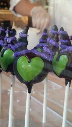Malificent cake pops Disneyland.