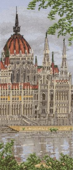 Hungarian Parliament Building Cross Stitch Kit | Black Sheep Wools