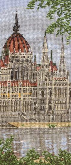 Hungarian Parliament Building Cross Stitch Kit | Black Sheep Wools
