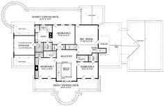 NeoClassical House Plan with 5564 Square Feet and 4 Bedrooms from Dream Home Source | House Plan Code DHSW55246 (3/4)