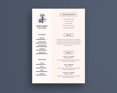 Pro Resume Cv Template by Graphic Pear on @creativemarket