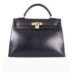 ON SALE: Genuine Hermes black box calf Kelly bag