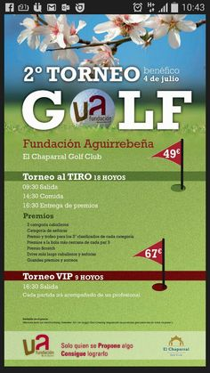 Next tournament Fundación Aguirrebeña saturday 4 July. Hurry up and book your greenfee!!!