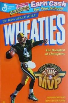 984fbf797bc Image detail for -WHEATIES CEREAL BOX with GREEN BAY PACKERS (c-9.25)